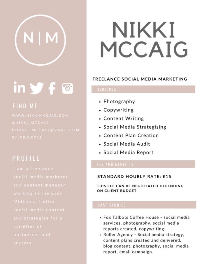 Nikki McCaig Nottingham Freelancer